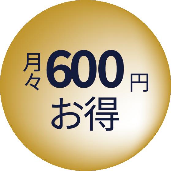 月々500円お得
