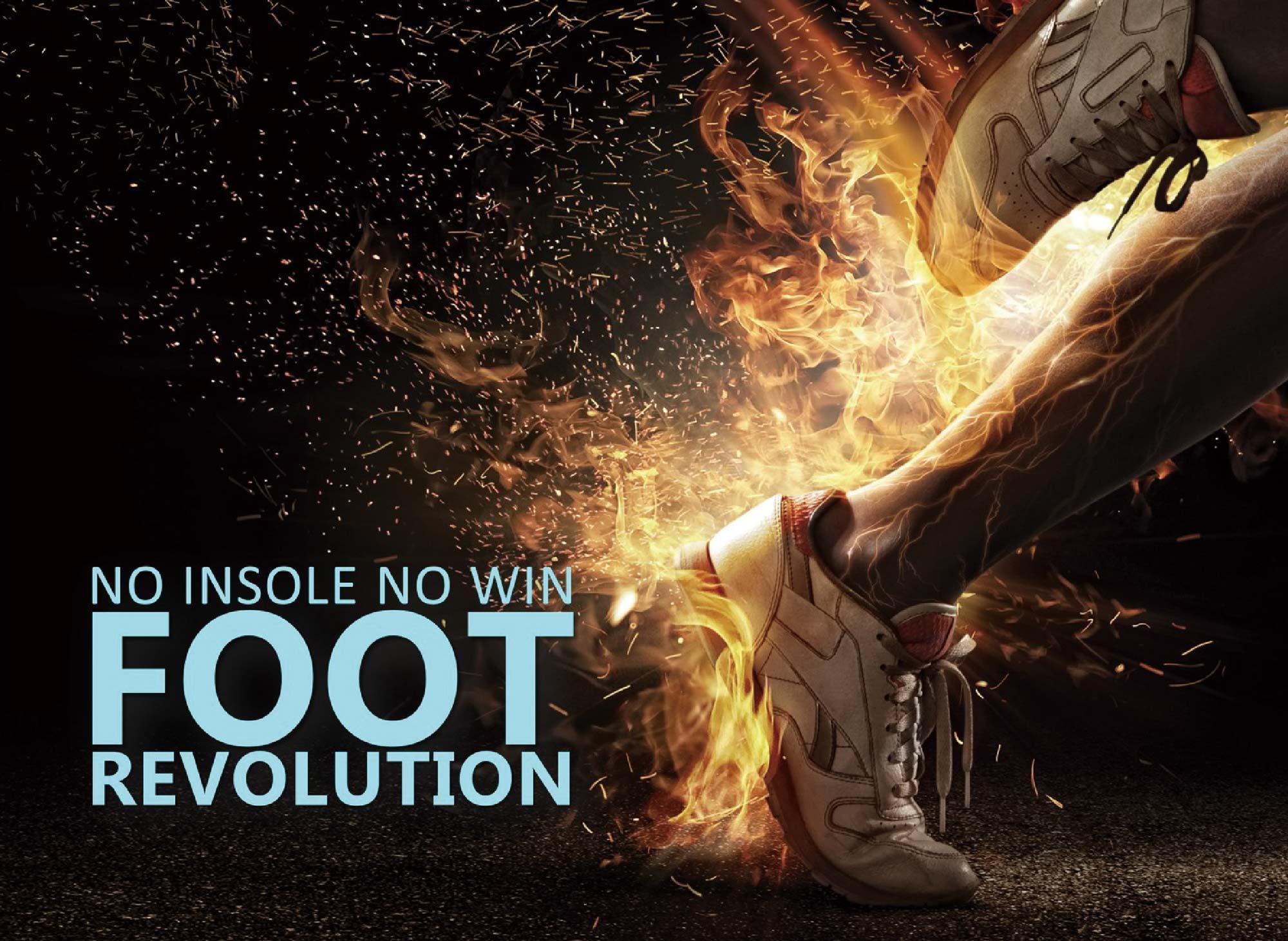 NO INSOLE NO WIN FOOT REVOLUTION